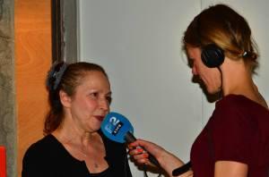 Ludmila interviewes af Celine Hostrup 19 marts 2015 foto Søren Krabbe