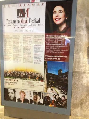 A poster from the Trasimeno Festival in Umbria Italy