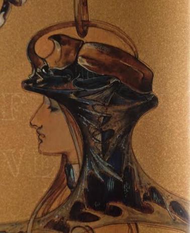Visage de femme de profil by René Lalique