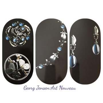 a collage of Danish Georg Jensen's Heritage collection