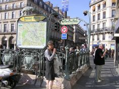 one of the Parisian Metro station in Art Nouveau style