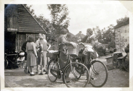 on bicycles