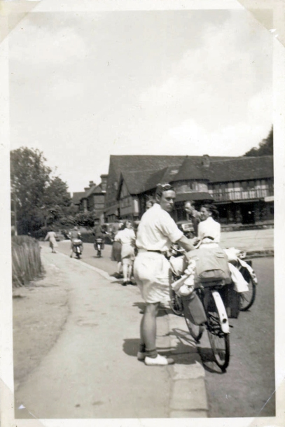 on bicycles 1946