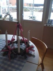 """Adventskrans"" as my mother made it"