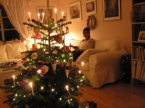 My Danish Christmas tree with real candle light