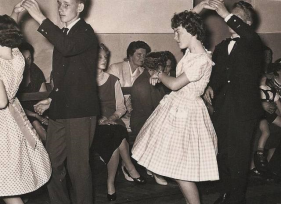 From a Dancing school in Stilling in the 1950s
