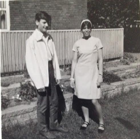 Torben og jeg i haven 1966