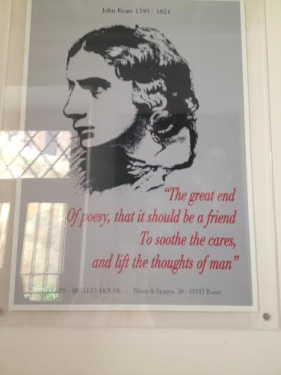 A poster from Keats' House in Rome
