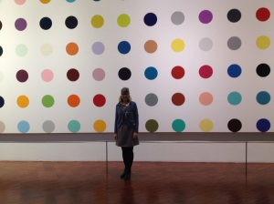 Me today in front of Damian Hirst polka dots