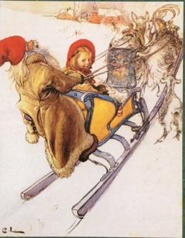 Karin Larsson's sleigh Carl Larsson's painting