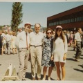 My parents and my twin brother and I at our graduation day in June 1970