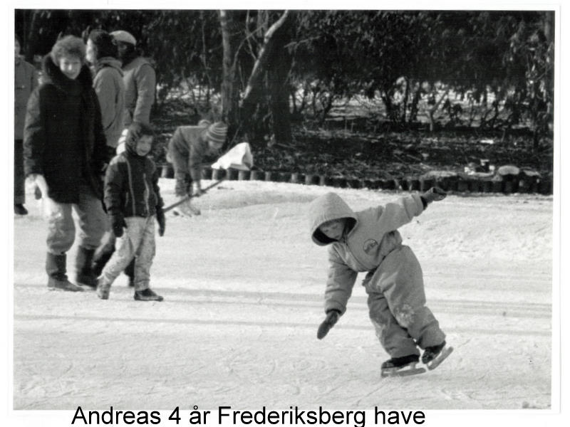 my eldest son four and a half years old practicing on the ice