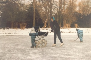 The oldest practising ice skating. I was 6 months pregnant with a 11 months old in the pram