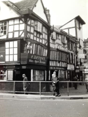 Josey's son John at the Old Wellington Inn at Shambles Square in 1966