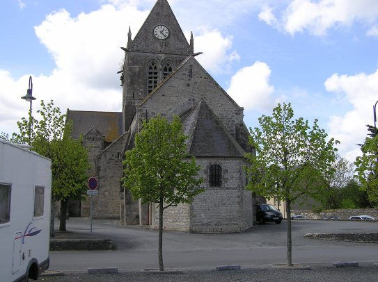 The famous church where J.Steele hang on his parachute in Saint Mère Eglise