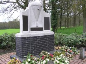 A war memorial at Oesterbeek