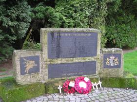 A war memorial at Oosterbeek War Cemetery