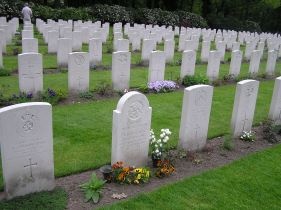 Part of the Arnhem Oosterbeek Cemetery