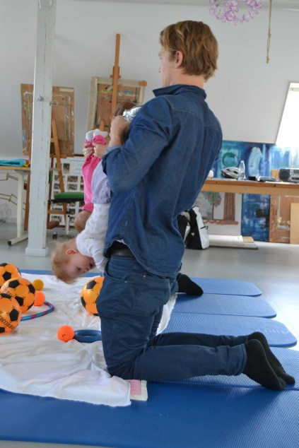 """Father & Baby exercise """"Upside down"""""""