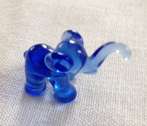 A little glass elephant bought in Tivoli about 1958