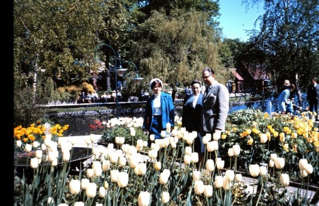 Spring 1965 in Tivoli with my parents