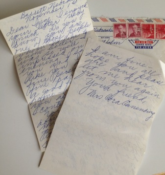 Letters from a retired teacher in Milwakee late 1960s
