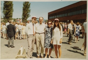 Graduation day at Ballerup Gymnasium 1970