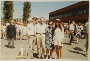 Graduation day at Ballerup Gymnasium 1970