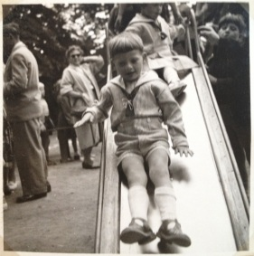 My twin brother in the Tivoli play ground 1955