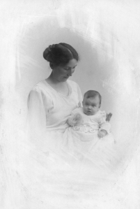 Asta my grandmother 1921 with her first-born