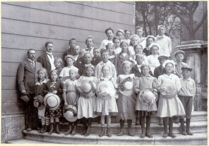Emry on a school excursion to Copenhagen about 1910