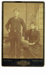 William and Laura on their wedding 1889