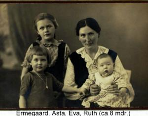 Asta with three out of four children. Baby Ruth is my mother
