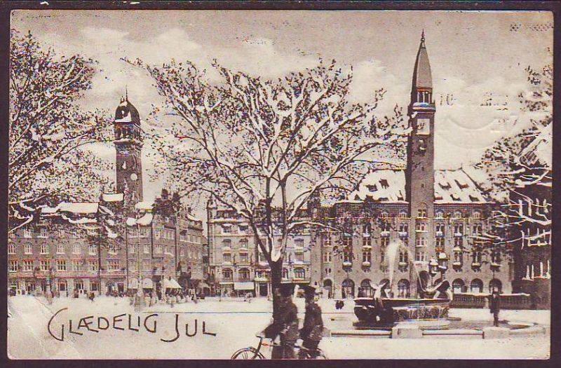 Dragespringvandet julepostkort efter 1908 og før 1923
