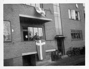 Ermegaard at her flat in Esbjerg at the Libaration