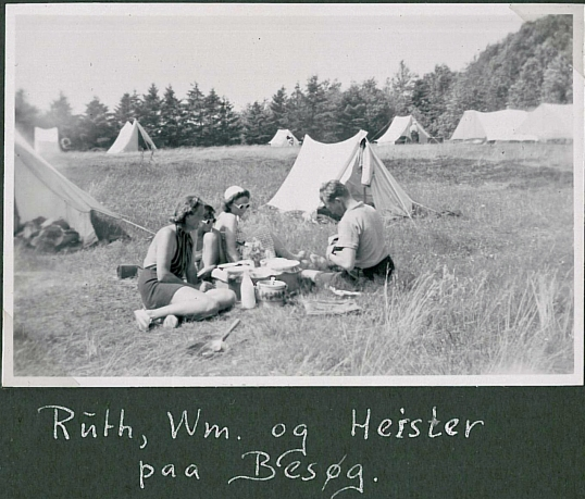 Ruth and William visiting Ermegaard in Esbjerg during the war