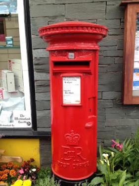 Stavely letter box in the Lake District