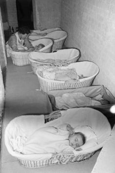 Evacuated babies in a nursery in England in 1941