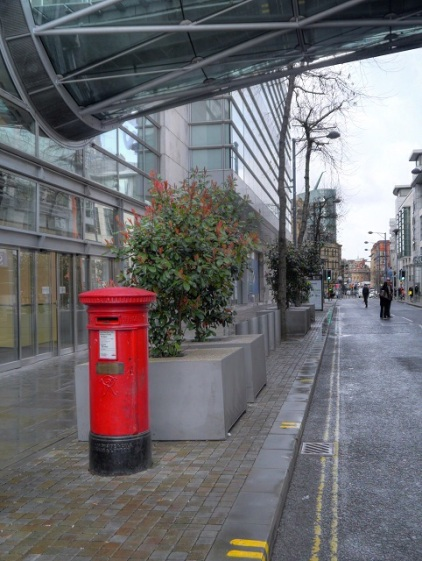 From Wikipedia the Pillar box that survived the bombing