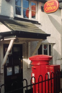 A pillar box with two apertures in Monton, Eccles Manchester