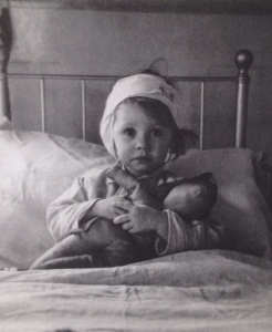 Three year old Eileen at a children's hospital in 1940