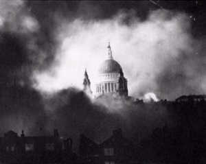 The iconic photo from the Blitz in December 1940