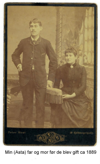 Villiam and Laura 1889. My grandmother Asta's parents