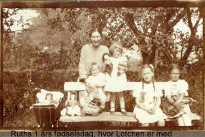 My mother's one year birthday Holbaek 1924