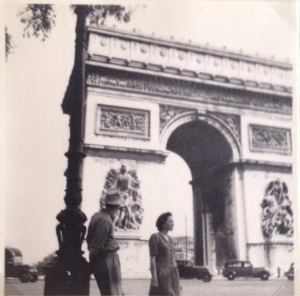 My father and mother in Paris 1949