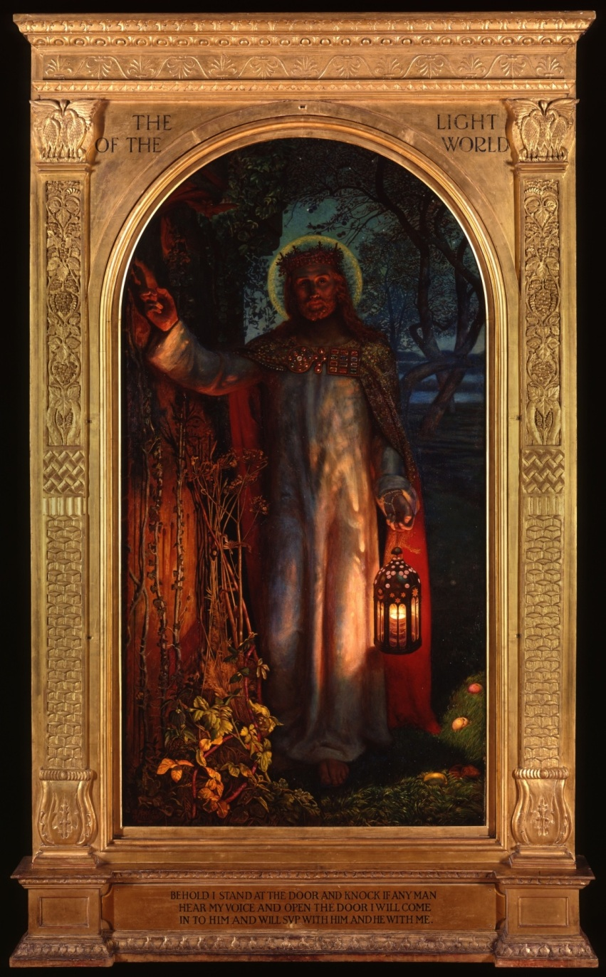 Christ at the door of the heart at a human being St. Paul's Cathedral by William Holman-Hunt 1904
