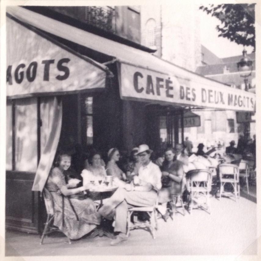 Paris in 1949 the famous café Les Deux Margots