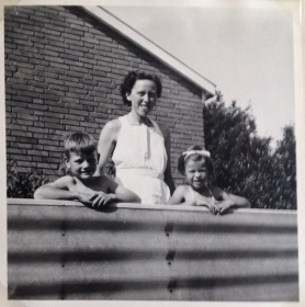 From our garden in our childhood. My mother's birthday in 1955