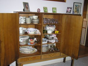 The cupboard I am writing about. My parents bought new furniture when they married in 1948