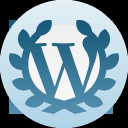 Word Press anniversary badge